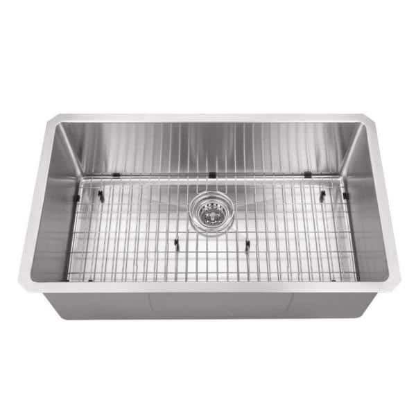 Cahaba Undermount Stainless Steel 32 In Zero Radius Corner Single Bowl Kitchen Sink Ca221sb32 The Home Depot