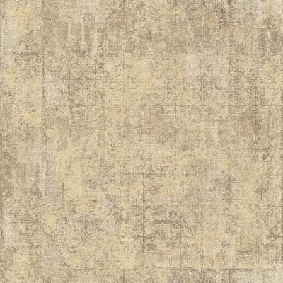 Global Fusion Mottled and Distressed Plasterwork Design Wallpaper