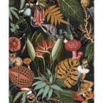 A Tropical Soiree Charcoal Botanical Paper Non-Pasted Wallpaper Roll (Covers 57 Sq. Ft.)