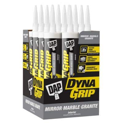 DYNAGRIP 9 oz. Mirror-Marble-Granite Construction Adhesive (12-Pack)