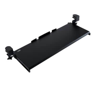 AIRLIFT 360 Clamp-On Extra-Wide Under Desk Sliding Ball-Bearing Keyboard Tray