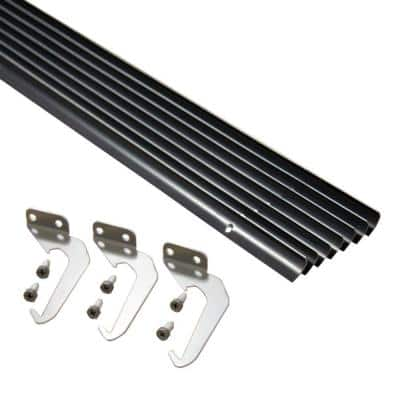 4 in. x 25 ft. Brown Aluminum Gutter with Brackets & Screws - Value Pack of 25 ft.