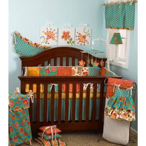 Gypsy 8-Piece Multi Color Floral Crib Bedding Set