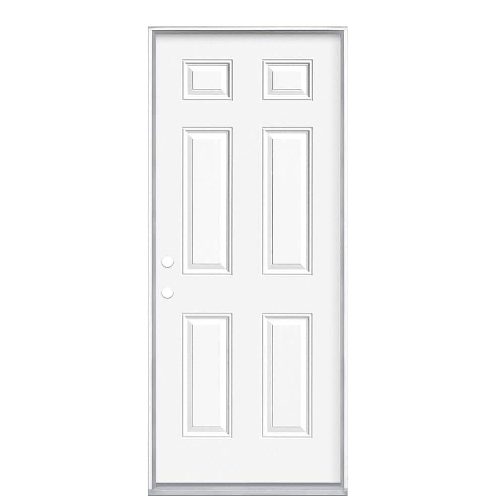 Masonite 32 In X 74 In Mobile Home Right Hand Inswing Primed Steel Prehung Front Exterior Door No Brickmold 04248 The Home Depot