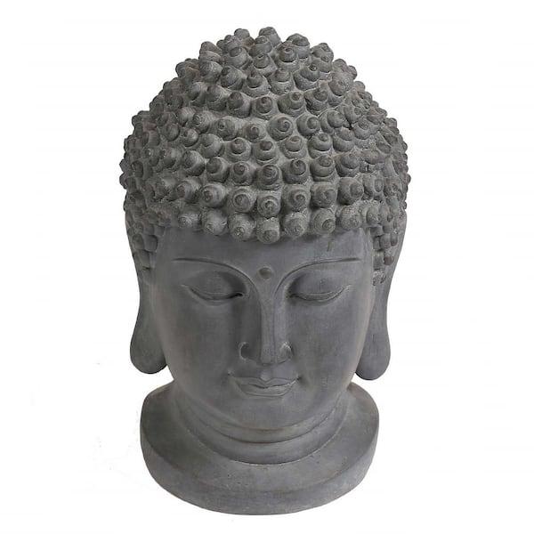 Luxen Home Buddha Head Garden Statue Whst255 The Home Depot