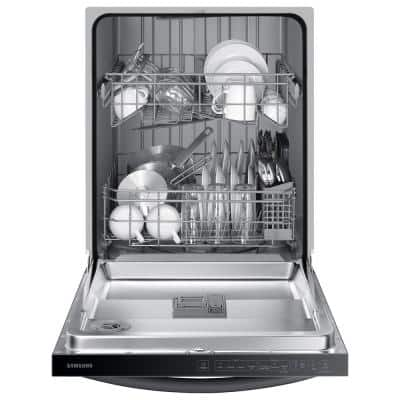 24 in. Top Control Tall Tub Dishwasher in Black Stainless Steel with Stainless Steel Interior Door, 55 dBA