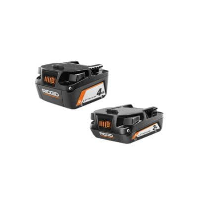 18V Lithium-Ion (1) 4.0 Ah Batteries and (1) 2.0 Ah Batteries