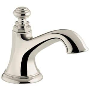 Artifacts 5.375 in. Bathroom Sink Spout with Bell Design in Vibrant Polished Nickel