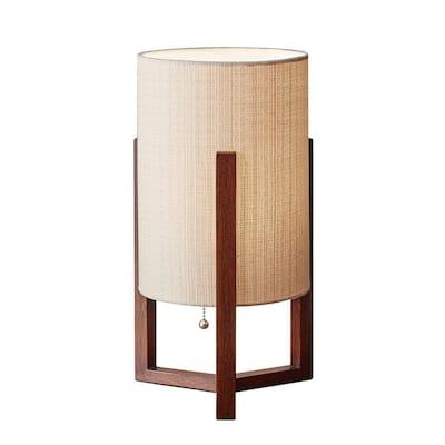 Quinn 17 in. Brown Table Lantern