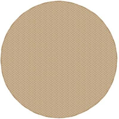 Medallion Tan 7 Ft. 6 In. Round Area Rug