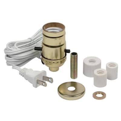 Brass DIY Make-a-Lamp Bottle Adaptor Kit