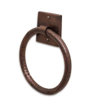 Monarch Pure Copper Hand Hammered Towel Ring