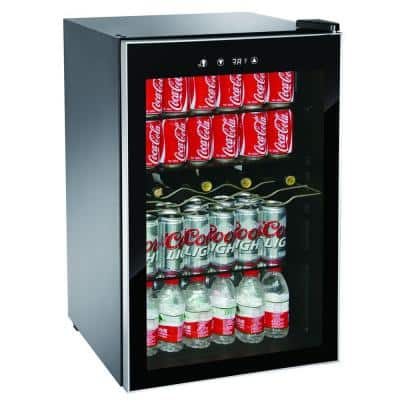 Single Zone 22 in. 4-Bottle or 110 (12 oz.) Can Beverage Wine Center