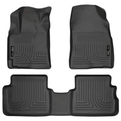 Front & 2nd Seat Floor Liners Fits 09-13 Corolla/Matrix FWD