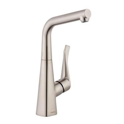 Metris Single-Handle Bar Faucet in Steel Optic