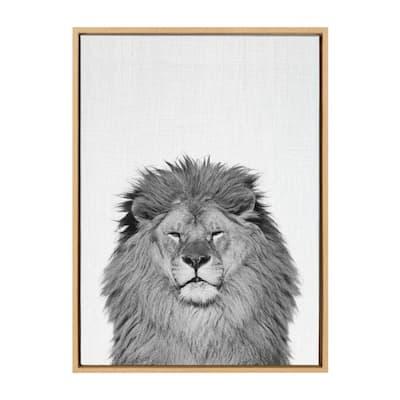 "Sylvie ""Lion"" by Tai Prints Framed Canvas Wall Art"
