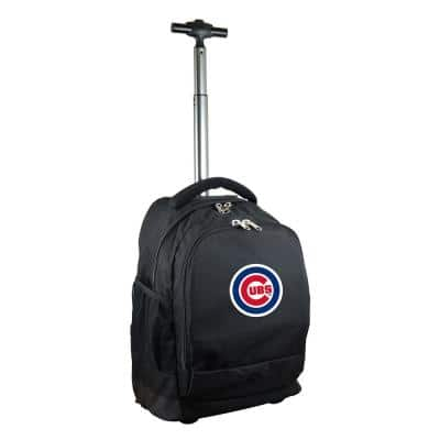 MLB Chicago Cubs 19 in. Black Wheeled Premium Backpack