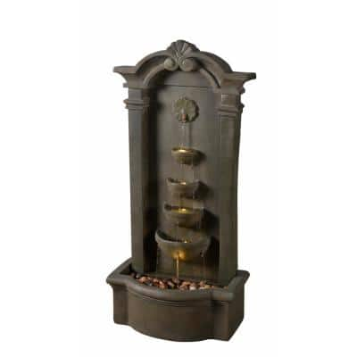 Cathedral Resin and Metal Floor Fountain