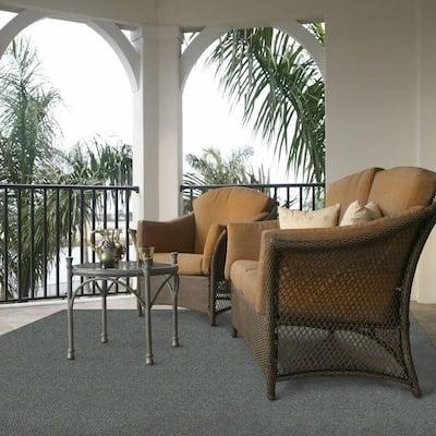 Hobnail Granite 6 ft. x 8 ft. Solid Indoor/Outdoor Area Rug