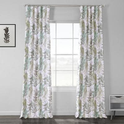 Palms Green Novelty Blackout Curtain - 50 in. W x 108 in. L