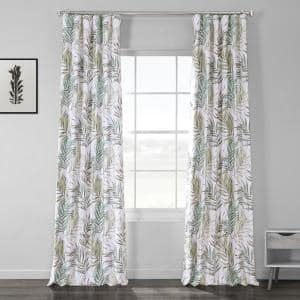 Palms Green Novelty Blackout Curtain - 50 in. W x 84 in. L