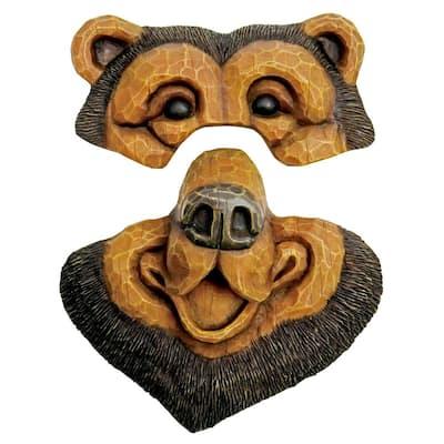 14 in. Black Bear Tree Face