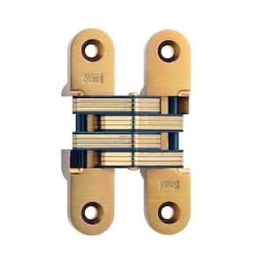 1 in. x 4-5/8 in. Satin Brass Invisible Hinge
