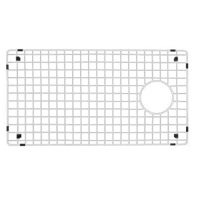 27-1/2 in. x 14-3/4 in. Stainless Steel Bottom Grid Fits QT-670, QU-670
