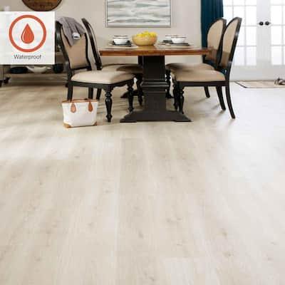Outlast+ 7.48 in. W Sunbaked Sand Oak Waterproof Laminate Wood Flooring (19.63 sq. ft./case)