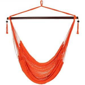 3 ft. Hanging Caribbean XL Hammock Chair in Orange