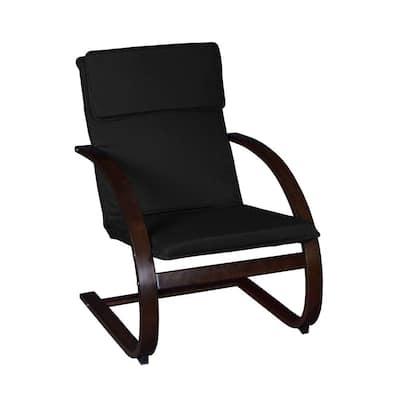 Baha Mocha Walnut/Black Bentwood Reclining Chair