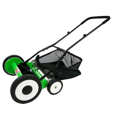 Lawn Demon 16 in. 5-Blade Walk Behind Manual Power Push Reel Mower