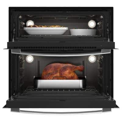 Profile 30 in. Double Electric Wall Oven with Convection Self-Cleaning in Stainless Steel