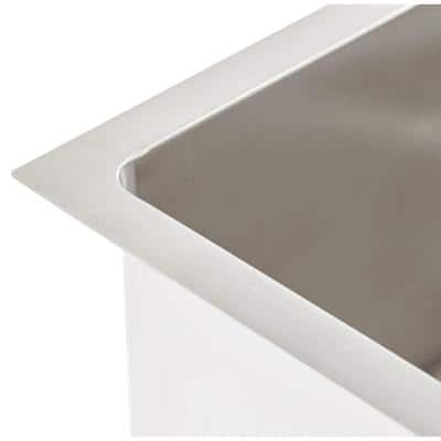 QUATRUS R15 Undermount Stainless Steel 32 in Single Bowl Kitchen Sink