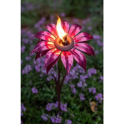 36 in. Bishop Dahlia Garden Torch