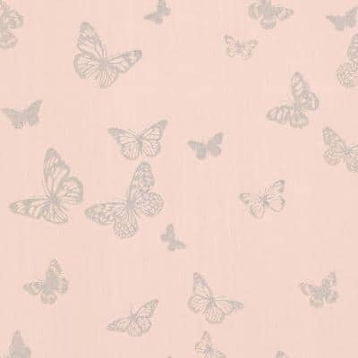 Pearl Blush Butterfly Blush Paper Strippable Roll (Covers 56.4 sq. ft.)