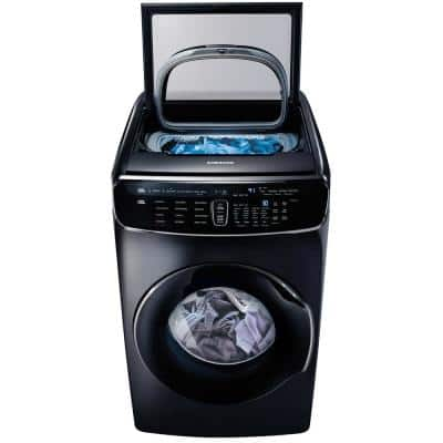 6.0 Total cu. ft. High-Efficiency FlexWash Washer in Black Stainless