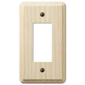 Contemporary 1 Gang Rocker Wood Wall Plate - Unfinished Ash