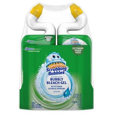 24 fl. oz. Rainshower Bubbly Bleach Gel Toilet Bowl Cleaner (2-Pack)