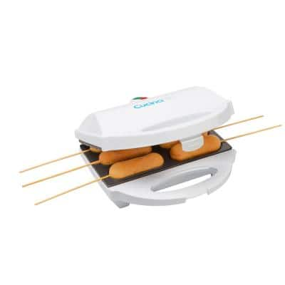 80 sq. in. White Corn Dog Maker with Lid