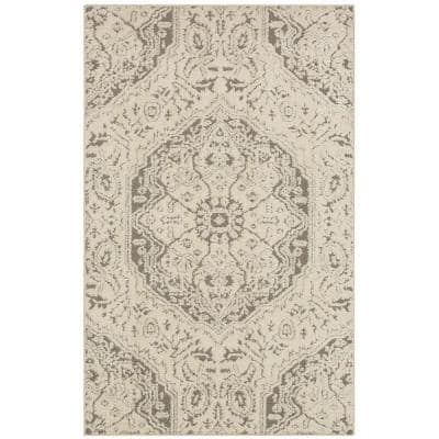 Francesca Light Grey 8 ft. x 10 ft. Indoor Area Rug