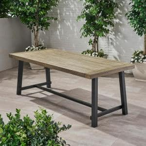 Best Redwood Farmhouse Mission Brown 8 Ft Redwood Outdoor Dining Table Fdt 31h38w96l 1912 M The Home Depot