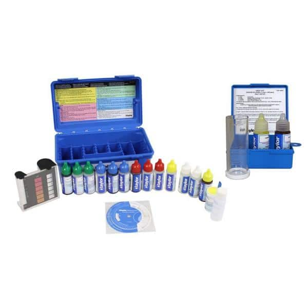 Taylor Technologies Taylor Complete Swimming Pool Spa Test Kit Plus Sodium Chloride Salt Water Test K2006 K1766 The Home Depot