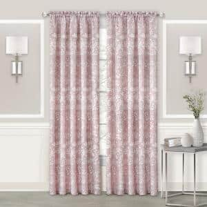 Charlotte 52 in. W x 84 in. L Polyester Light Filtering Window Panel in Blush