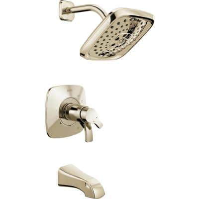 Tesla H2Okinetic Single-Handle Tub and Shower Faucet Trim Kit in Polished Nickel (Valve Not Included)