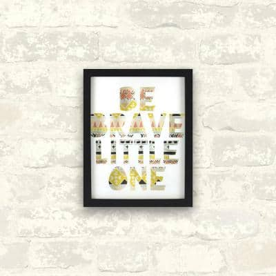 8 in. x 10 in. Be Brave Little One 1-Piece Shadowbox with Glass Screenprint