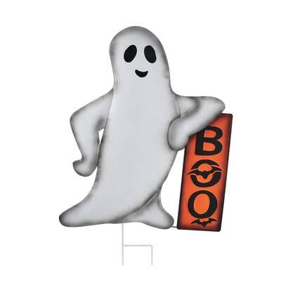 24.4 in. Un-Lit Ghost Halloween Yard Decoration