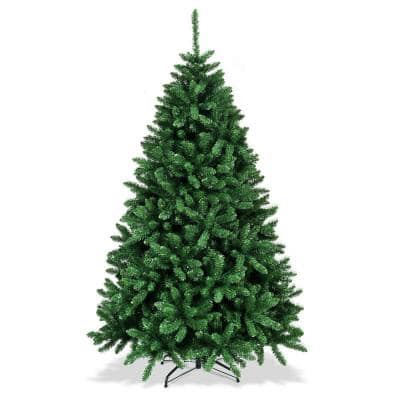 6 ft. Unlit Douglas Full Fir Hinged Artificial Christmas Tree with 1355-Tips