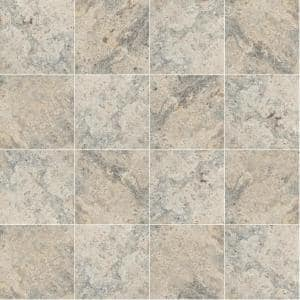 Silver Gray 16 in. x 16 in. Square Tumbled Travertine Paver Tile (20 Pieces/35.6 sq. ft./Pallet)