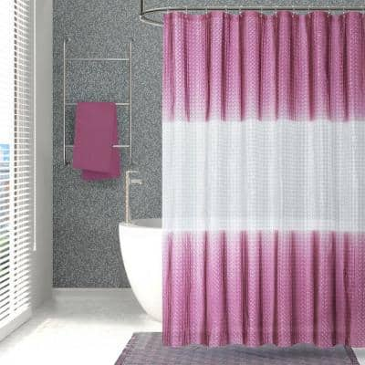 Mist 70 in. x 72 in. Liner Burgundy 3D Eco-Friendly Shower Curtain